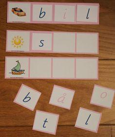 rosa+tre+ord. Montessori Materials, Montessori Activities, Down Syndrom, Adhd Strategies, Toddler Fun, Fun Learning, Blogg, Literacy, Kindergarten
