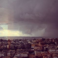 Even the approaching #storm looks #beautiful from our #offices!  #whereiwork #officeview #view #today #rain