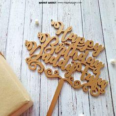 #caketopper#customcaketopper#acryliccaketopper#woodcaketopper#personalizedcaketopper#wigglegiggle