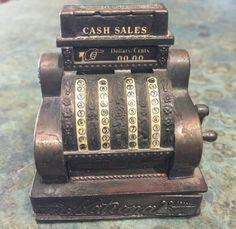 Vintage Brass Cast National Cash Register Pencil by LeftoverStuff