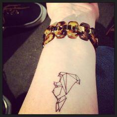 Tattoo - Little origami Bunny
