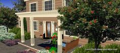 See many front porch designs on a two story home using the Porch Illustrator at Front-Porch-Ideas-and-More.com