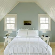Duck egg blue and off white - soothing colour scheme