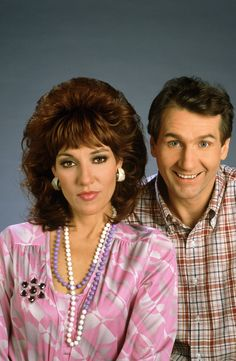 "Katey Sagal and Ed O'Neill as Peg Al Bundy in ""Married with Children"". Peggy Bundy, Al Bundy, Ed O Neill, Katey Sagal, Married With Children, And Peggy, Comedy Tv, Photos Of The Week, Classic Tv"