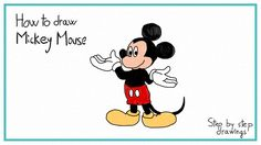 How to draw Mickey Mouse #drawings #stepbystep #disney #mickeymouse #howto