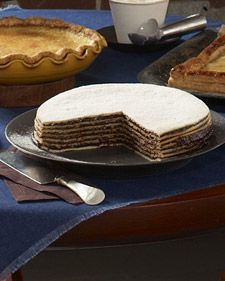 In Iceland, this layered prune torte is made for the winter holidays and nibbled on all season, thanks to its long shelf life. One of my favourite desserts.