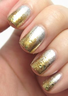 85 Best Silver & Gold Nails images | Pretty nails, Nail Polish ...