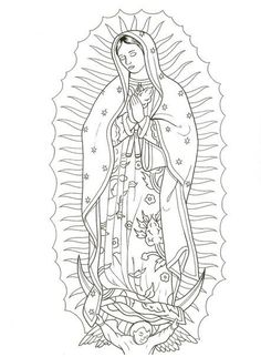 by Enrique Cast. Tattoo Design Drawings, Tattoo Sketches, Art Sketches, Flash Art Tattoos, Chicano Drawings, Chicano Tattoos, Arabic Tattoos, Virgin Mary Art, Mary Tattoo