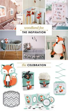 Nursery Decoration as Baby Shower Inspiration // Fox Baby Shower Inspirations // BigDotOfHapppiness.com #foxbabyshower #foxpartyideas