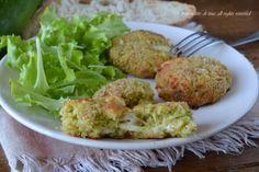 Polpette zucchine e pane al forno