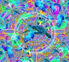Sea Turtle and Jelly Fish Jelly Fish, Turtle, Sea, Artwork, Animals, Turtles, Work Of Art, Animales, Auguste Rodin Artwork