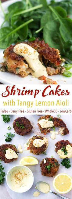 Just like crab cakes but made with shrimp! Super easy 30-minute recipe. These shrimp cakes are paleo, gluten free, dairy free, Whole30, and low carb!