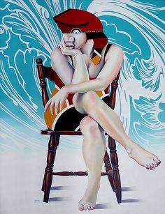"Manuel Martinez ""Lola de mataro"" 130x100"" acrylique"
