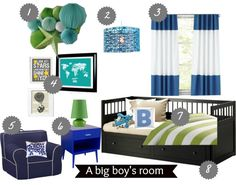 "Our inspiration or planning board for our toddler's ""big boy room."""