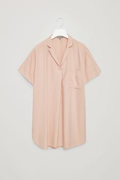 COS image 6 of Silk tunic top in Biscuit