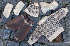 Pullover stricken mit alten Mode-Muster für Ihre Puppe Design: Målfrid Gausel