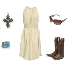 I love this outfit! western style, created by megan-doan