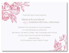 The rose design on this card is fixed in tea rose pink. This card includes matching bright white envelopes unless otherwise noted. When customizing, please note that only three ink colors may be selected for your personalization. Printing in four or more ink colors is available for an additional charge. Please inquire with customer service for more details. Price $228.00