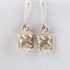 XX Tile Earrings - Silver | DARKBLACK $180 NZD