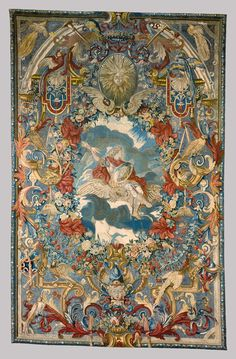 Seasons and Elements (Air). From a set of four. 1683. Canvas; silk, wool, and metal-thread embroidery in tent stitch. 168 in. x 108 in. Comissioned for Marquise de Montespan. French, Paris. The Metropolitan Museum of Art.