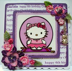 Adorable Hello Kitty card for 6th birthday.