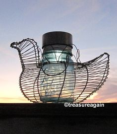 Chicken Mason Jar Solar Light by treasureagain  http://etsy.me/1C21R7q
