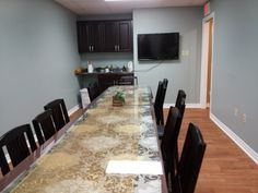 The Boardroom: Here's where we hold large group presentations and classes. Registered Dietitian Nutritionist, Conference Room, Group, Home Decor, Decoration Home, Room Decor, Home Interior Design, Home Decoration, Interior Design