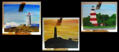 Canvas board original lighthouses by Dimitri Walker
