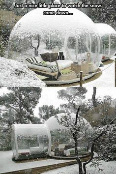 outdoors in snow \ outdoors in snow . snow day activities for kids outdoors . diy snowman for outdoors . snowman for outdoors . fake snow for outdoors . picnic in the snow outdoors Future House, My House, Outdoor Spaces, Outdoor Living, My Dream Home, Snow Globes, Beautiful Places, Amazing Places, Home And Garden