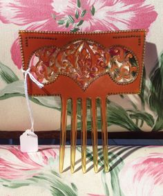 Antique Comb Edwardian Large Celluloid with by doubletakesantafe