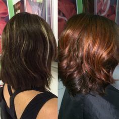 Copper Ombré Short Hair