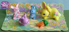 1996 Target Easter Exclusive Country Fun Pets Collection-Only need mommy bunny and cardboard garden