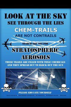 Chem-trails Shamefully, I see them daily!