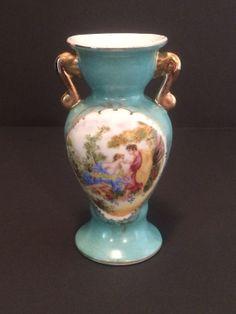 18k Gold Trimmed Porcelain Vase by Kristelstreasures on Etsy, $25.00