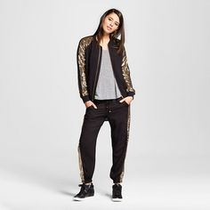 Women's Athleisure Sequin Bomber and Jogger Outfit - Xhilaration™ (Juniors') : Target