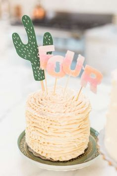Flamingo and Cactus Birthday Party Ideas | Photo 1 of 61
