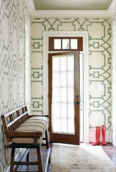 large scale fretwork wallpaper hand - Google Search