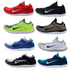 Nike Free Flyknit 4.0 2014 Barefoot Lightweight New Mens Running Shoes Pick 1 #NIKE #AthleticSneakers