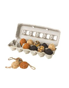 Birdseed Eggs, Set of 12 | Buy from Gardener's Supply. Makes a clever and useful gift!