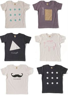 'mustache' is my favourite - organic tees by two