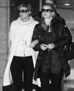 Princesses Laurentien en Mabel after a visit in the hospital to Prince Friso, february 2012