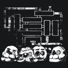 Bad Ending FNAF T-Shirt You did something wrong! You didn't finish all the minigames. But at least you will look bad to the bone in this awesome tee! More Info Behind The Design Five Nights at Freddy'