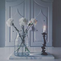White Glass Vase, Home Decor, Interior Design, Home Interiors, Decoration Home, Interior Decorating, Home Improvement