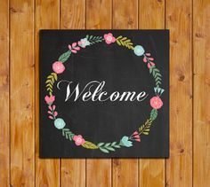 Welcome Printable Chalkboard Instant Download by dodidoodles, $5.00