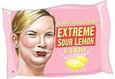 Renee Zellweger's Extreme Sour Lemon Candy