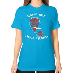 LETS GET SITH FACED Unisex T-Shirt (on woman)