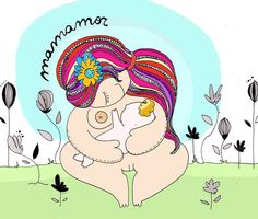 Illustration made exclusively for MamAmor by artist/illustrator Soledad Voulgaris.