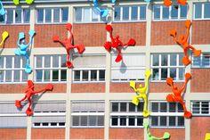 Zbliżenie na Roggendorfer-Haus - MedienHafen - Düsseldorf