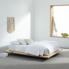 Floyd Platform Beds Featuring a low-lying platform frame, sturdy wood panels and steel supports, the Floyd Platform Bed's minimalist design was made for convenience—it works with all mattresses, doesn't require a box spring and can be taken apart if you're on the move. Even better, it's extra easy to put together (yay, no tools!).