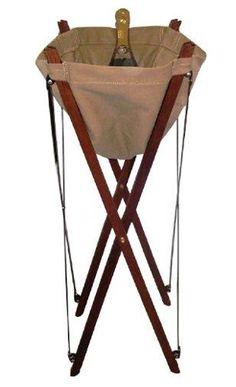 British Colonial Campaign Furniture: Wash basin/champagne bucket